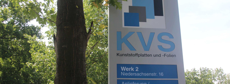 Hinweisschild Werk 2 (Information Sign Plant 2) - KVS GmbH, Schüttorf